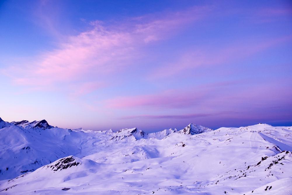 Winterferien Savognin Bivio Albula mit der Familie Morgenrot Early-Bird Skifahren Savognin