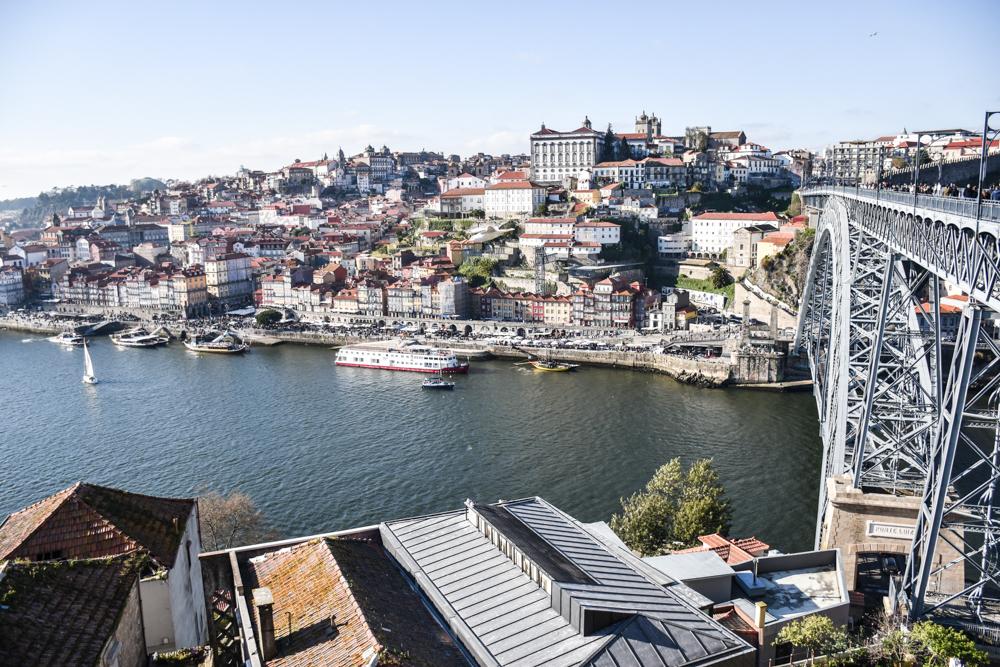 Porto Reisetipps Sehenswürdigkeiten Restaurants Ausblick von der Ponte Luis I auf Porto