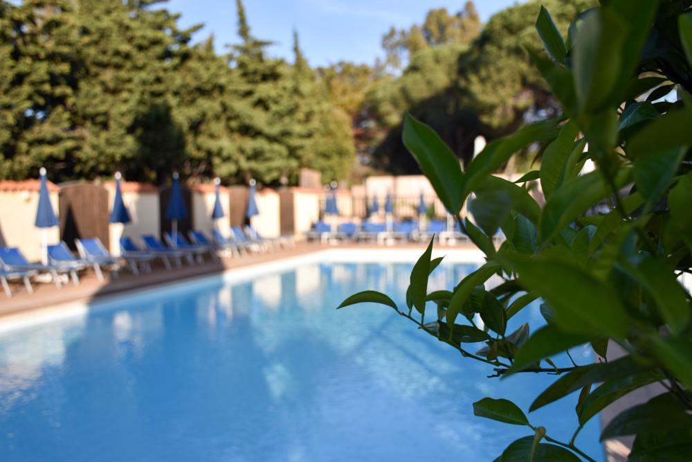 Hoteltipp Korsika Feriendorf zum störrischen Esel Calvi Pool