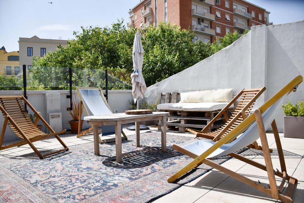 Unterkunft Cagliari Sardinien Fra Cielo e Mare Dachterrasse