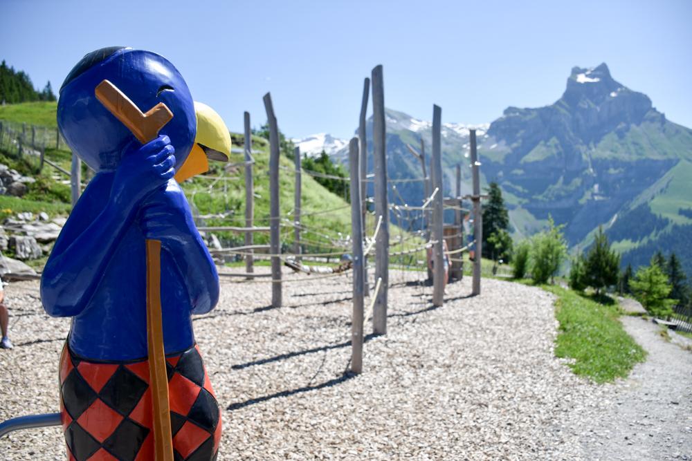 Familienausflug Engelberg Brunni Schweiz Globis Alpenspielplatz