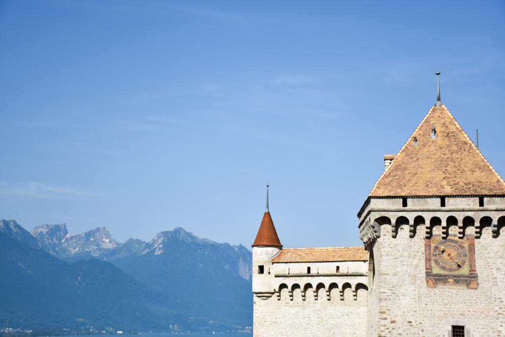 Familienausflug Rochers-de-Naye Montreux Schweiz Chateau de Chillon