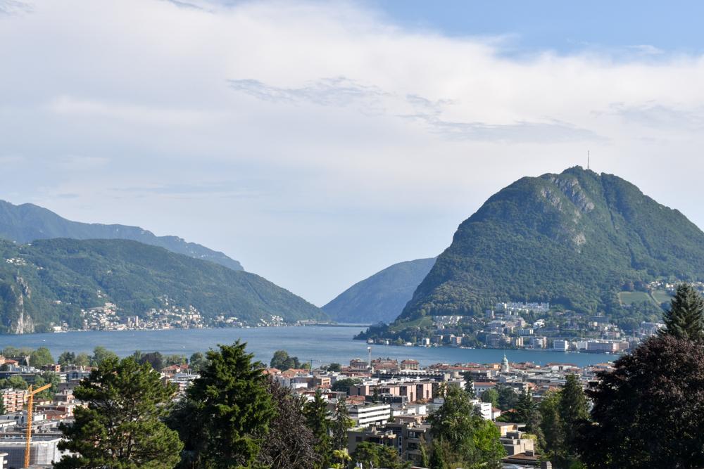 Glamping Lugano Schweiz Safarizelt Deluxe TCS Campingplatz Blick auf Lugano