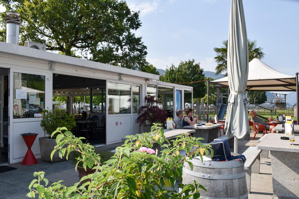Glamping Lugano Schweiz Safarizelt Deluxe TCS Campingplatz Restaurant