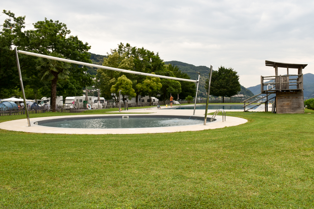 Glamping Lugano Schweiz Safarizelt Deluxe TCS Campingplatz Schwimmbad