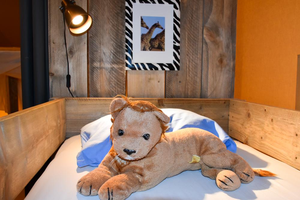 Glamping Lugano Schweiz Safarizelt Deluxe TCS Campingplatz Stockbett