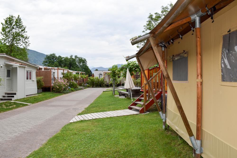 Glamping Lugano Schweiz Safarizelt TCS Campingplatz Glamping-Unterkünfte