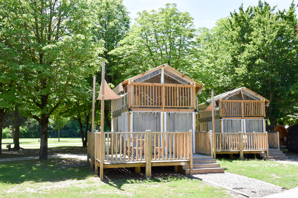 Glamping Sion Wallis Schweiz TCS Campingplatz Air Lodge