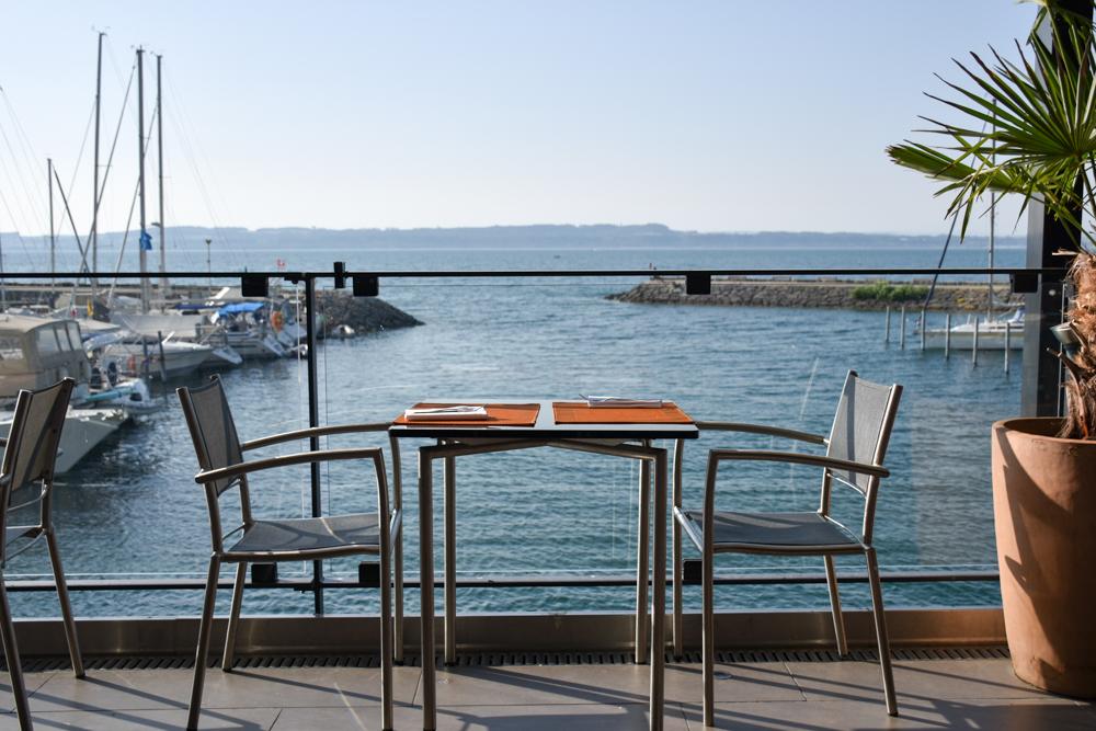 Hoteltipp Neuchatel Schweiz Best Western Premier Hotel Beaulac Aussicht beim Frühstück