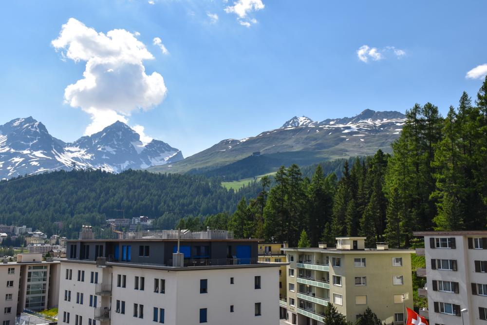 Unterkunft St. Moritz Engadin Schweizer Jugendherberge Aussicht vom Zimmer