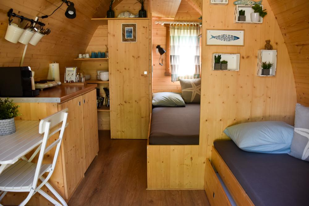 Biwak Glamping TCS Campingplatz Genf Family Pod