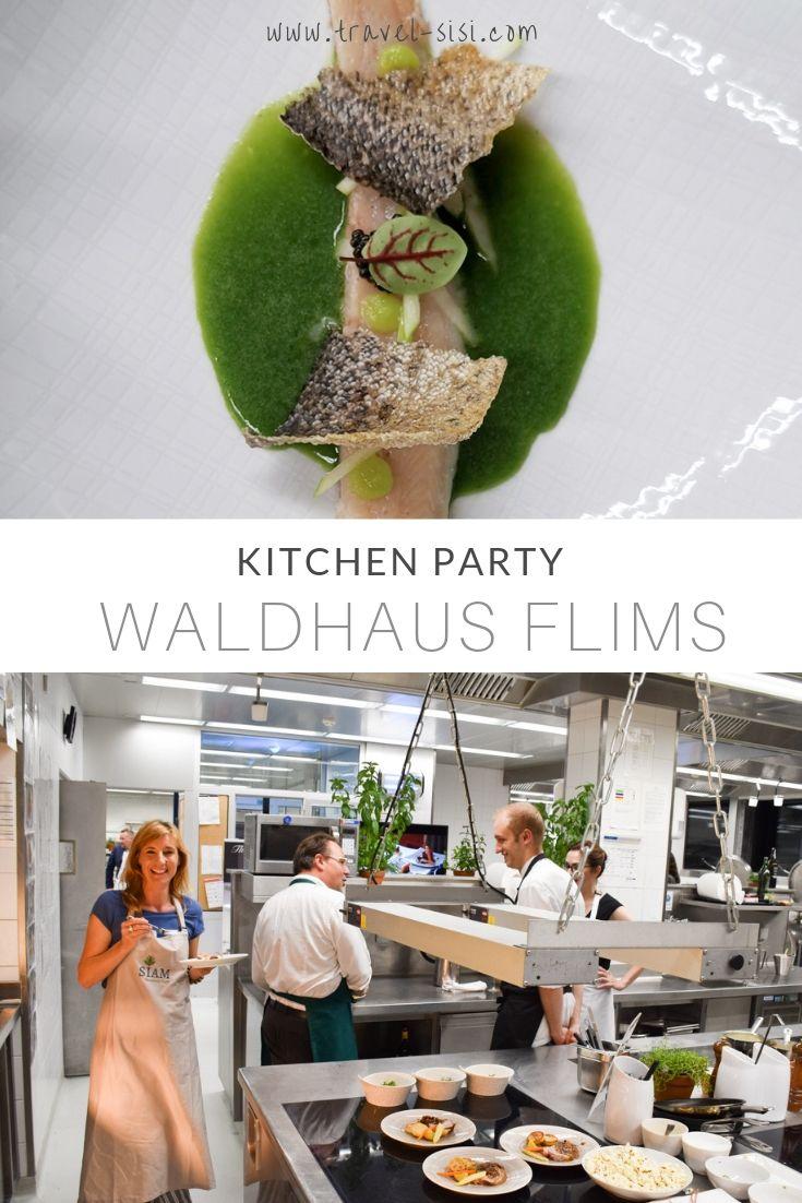 Kitchen Party Waldhaus Flims Graubünden Schweiz