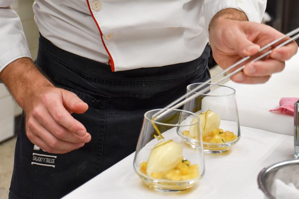 Kitchen Party im Waldhaus Flims Graubünden Schweiz Dessert