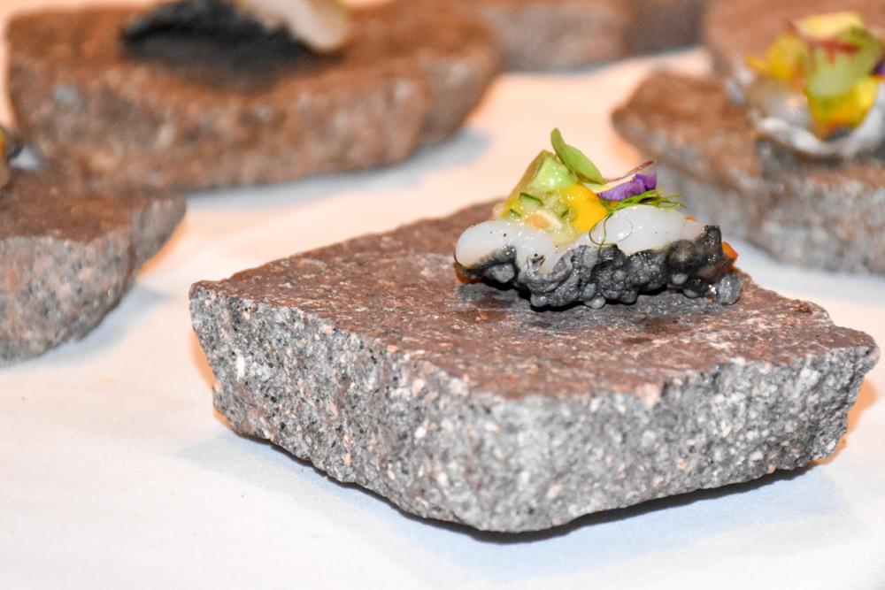 Kitchen Party im Waldhaus Flims Graubünden Schweiz Jacobsmuschel Cevice