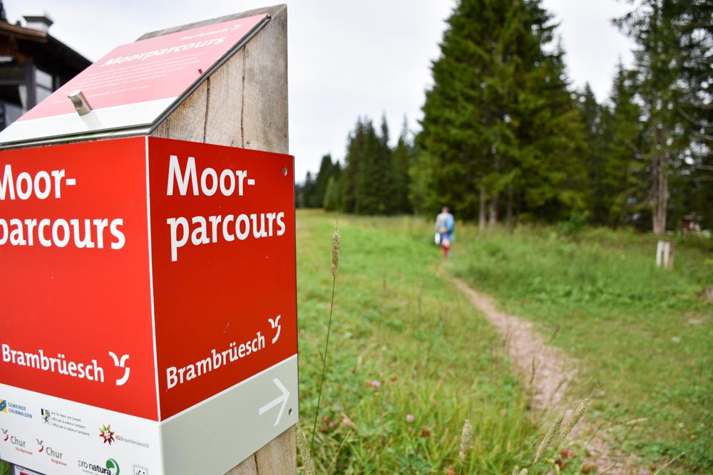 Schlammspielplatz Brambrüesch Chur Graubünden Schweiz Moorparcours