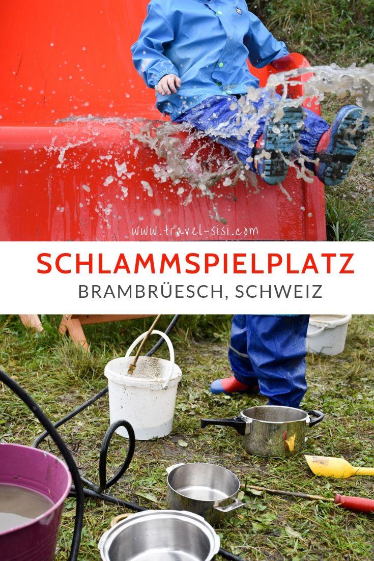 Schlammspielplatz Brambrüesch Graubünden Schweiz