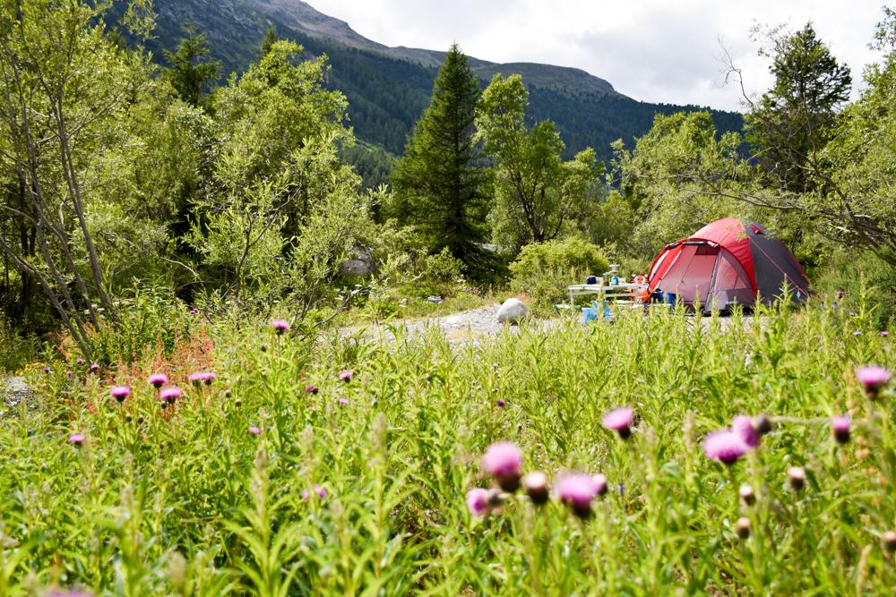 Engadin Graubünden Schweiz mit Kind Camping Morteratsch