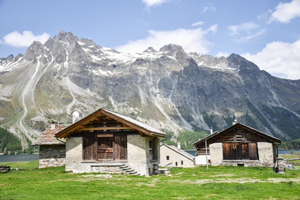 Engadin Graubünden Schweiz mit Kind Isola am Silsersee