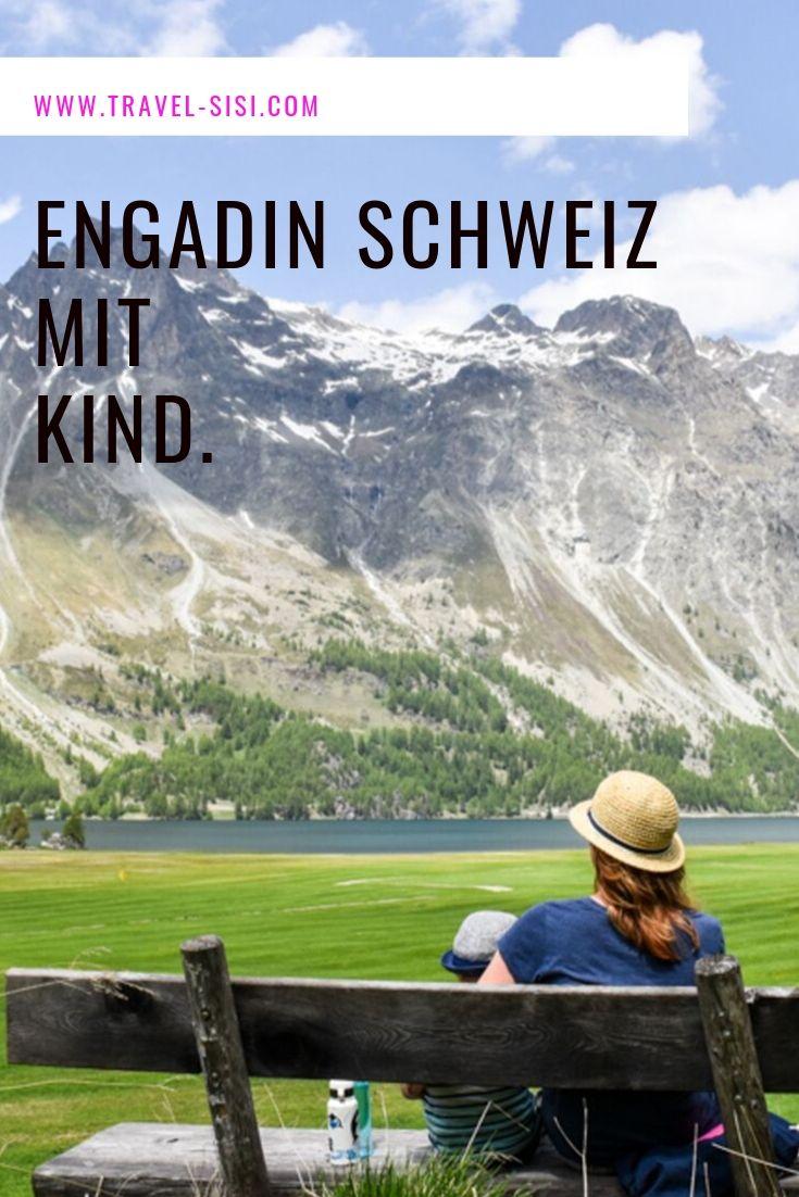 Engadin Graubünden Schweiz mit Kind