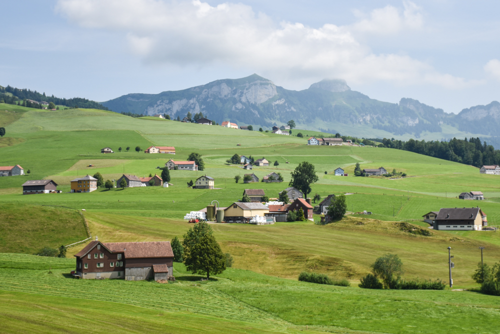 Familienausflug Hoher Kasten Appenzell Schweiz Appenzell
