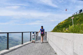 Familienausflug Hoher Kasten Appenzell Schweiz Europa-Rundweg