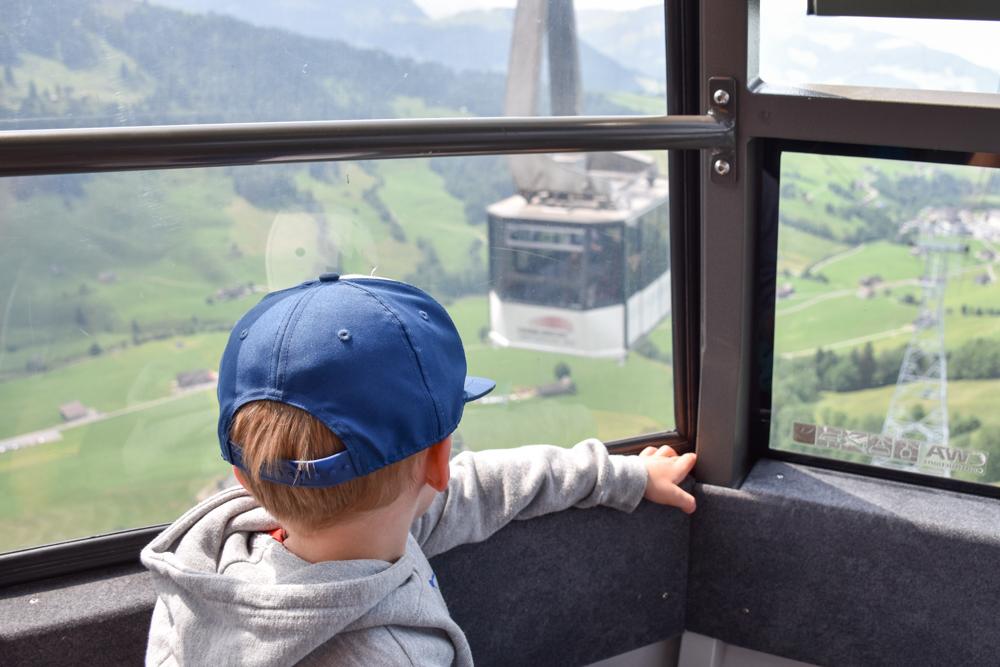 Familienausflug Hoher Kasten Appenzell Schweiz Kastenbahn