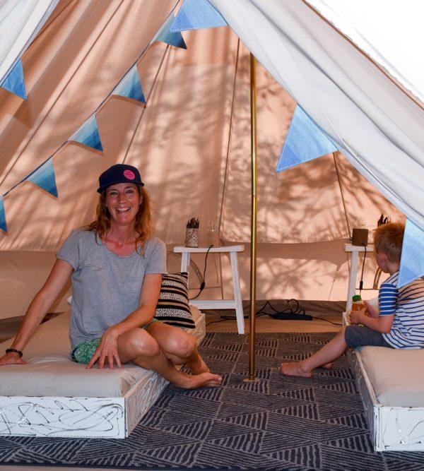 Glamping Buochs Vierwaldstättersee Schweiz: Im Nomadenzelt übernachten auf dem TCS Campingplatz