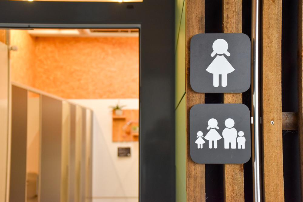 Glamping Buochs Vierwaldstättersee Schweiz TCS Campingplatz Familientoilette