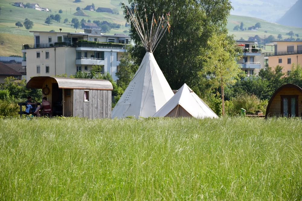 Glamping Buochs Vierwaldstättersee Schweiz TCS Campingplatz Glampingunterkünfte