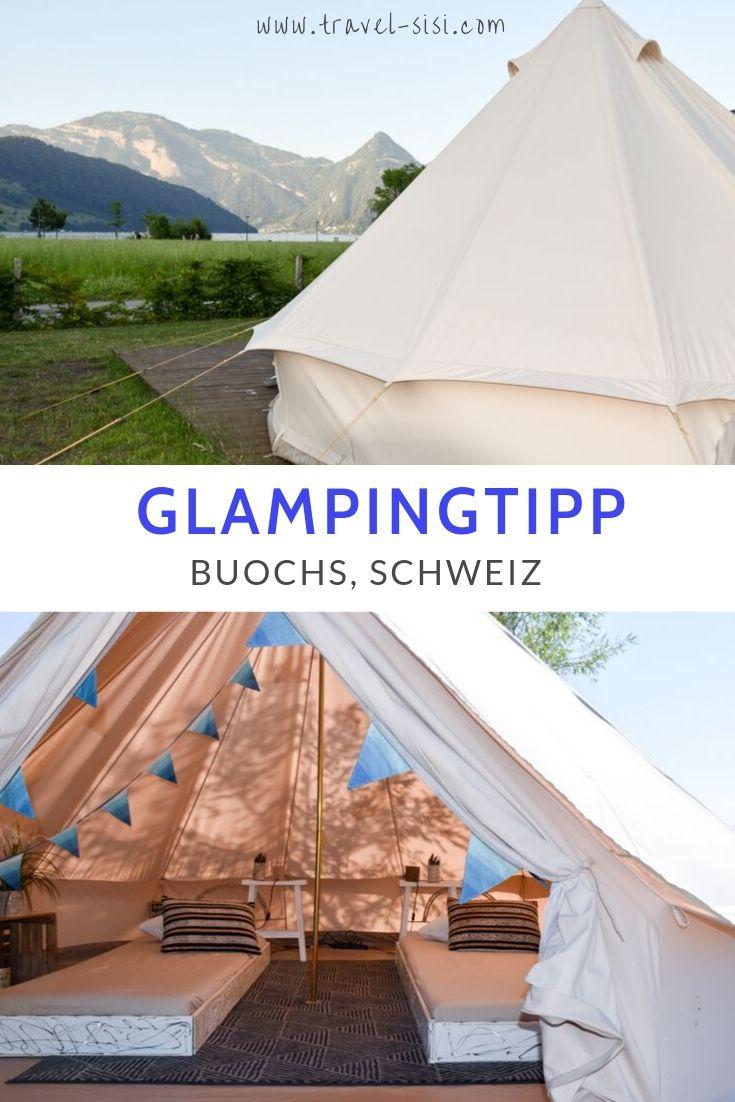 Glamping Nomadenzelt Buochs Vierwaldstättersee Schweiz