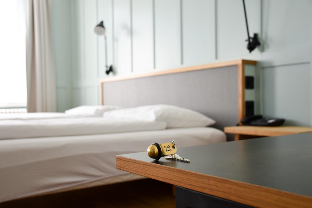 Unterkunft Rapperswil Schweiz Hotel Jakob Bett und Schlüssel