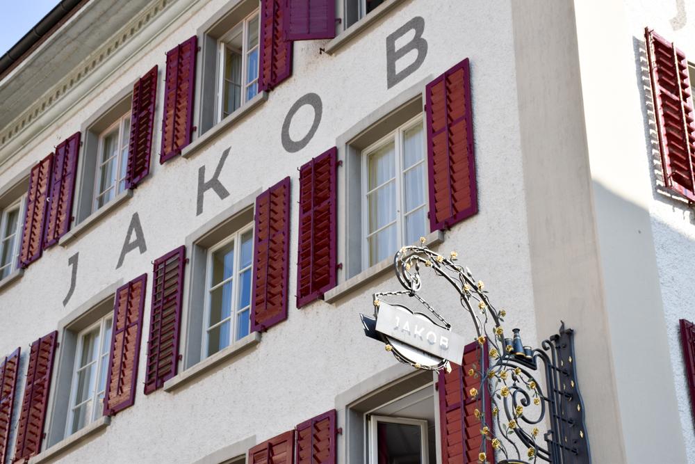 Unterkunft Rapperswil Schweiz Hotel Jakob Fassade