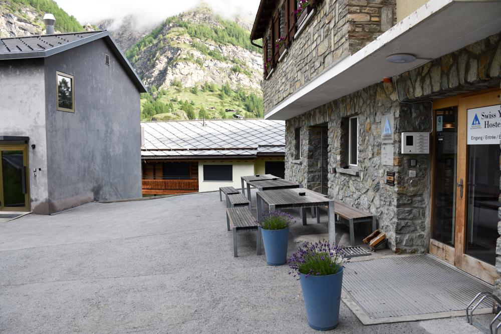 Unterkunft Zermatt Schweiz Jugendherberge Zermatt Eingang