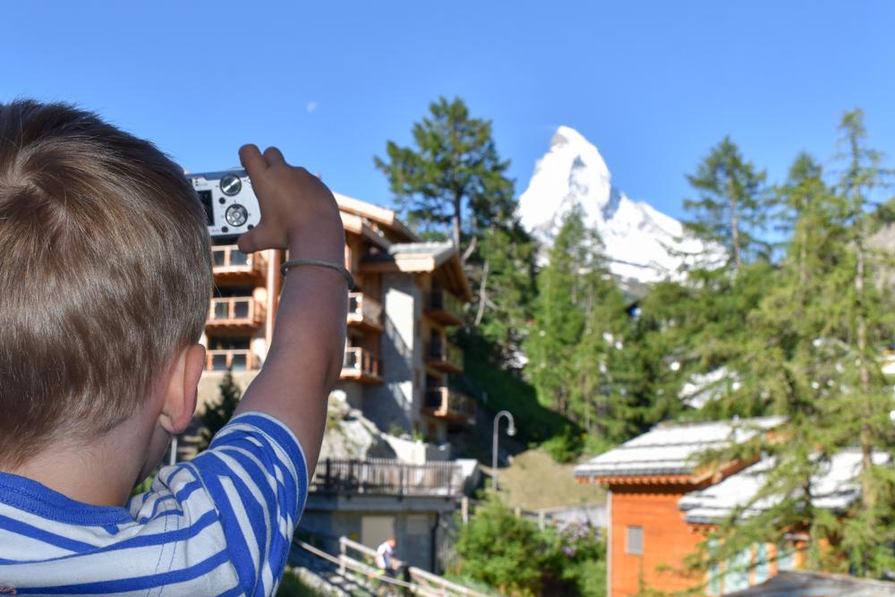 Unterkunft Zermatt Schweiz Jugendherberge Zermatt Foto vom Matterhorn