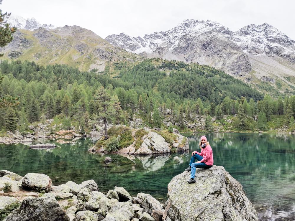 Weekend in der Valposchiavo Graubünden Schweiz Travel Sisi am Saoseo See