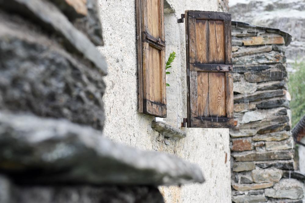 Weekend in der Valposchiavo Graubünden Schweiz authentische Häuser auf der Alpe San Romerio