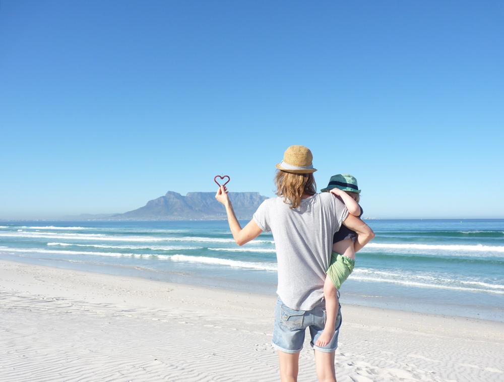 Kapstadt Südafrika mit Kleinkind
