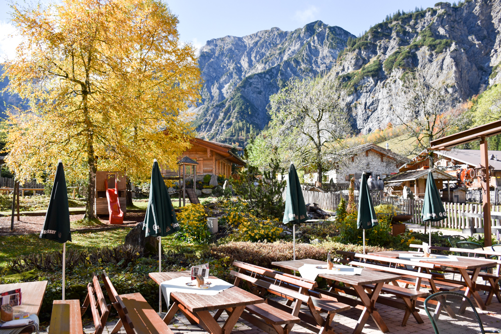 Herbstferien Achensee Tirol Österreich mit Kindern Spielplatz Gramaialm