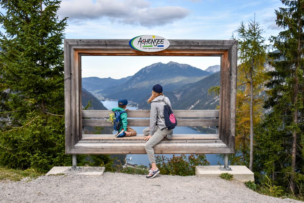 Herbstferien Achensee Tirol Österreich mit Kindern Aussicht Karwendel Bergbahn