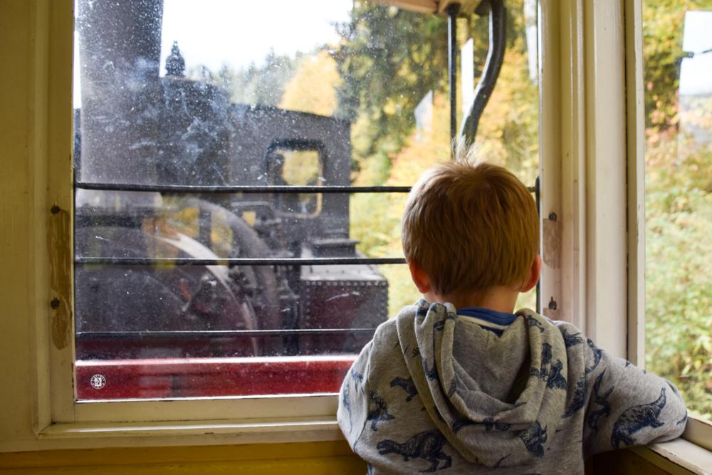 Herbstferien Achensee Tirol Österreich mit Kindern Fahrt mit der Dampfzahnradbahn