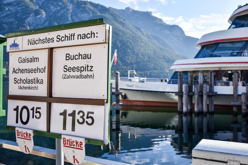 Herbstferien Achensee Tirol Österreich mit Kindern Schifffahrt auf dem Achensee