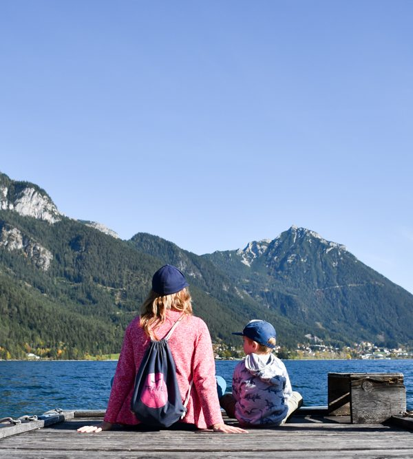 Herbstferien Achensee Tirol Österreich mit Kindern Seeufer Pertisau