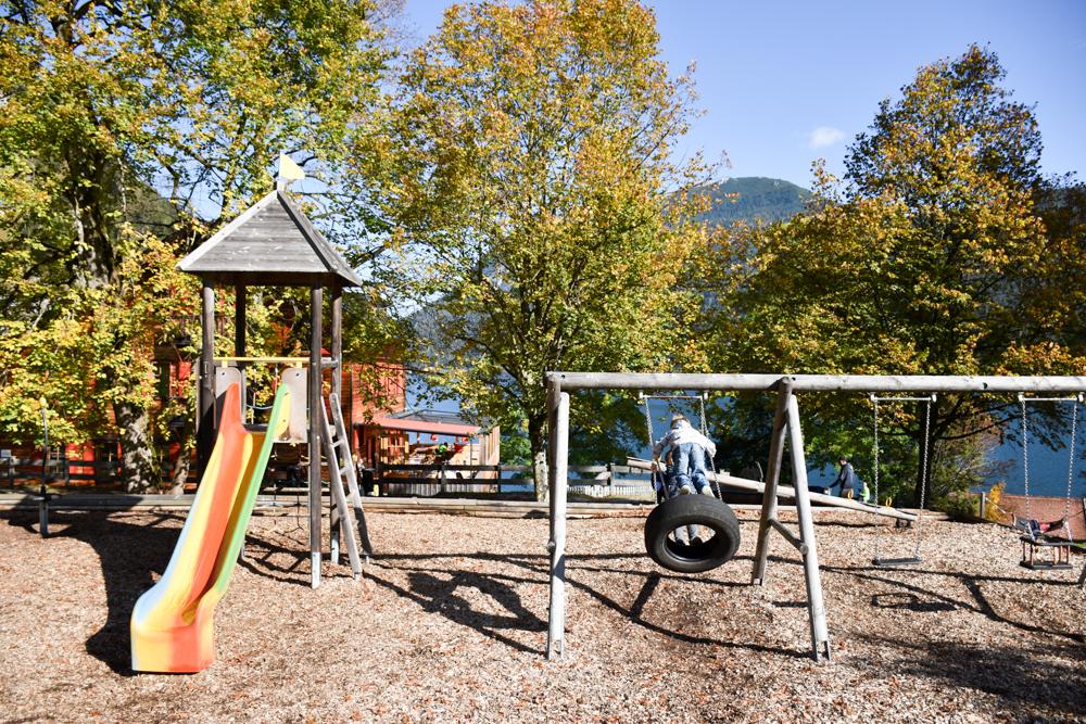 Herbstferien Achensee Tirol Österreich mit Kindern Spielplatz Gaisalm