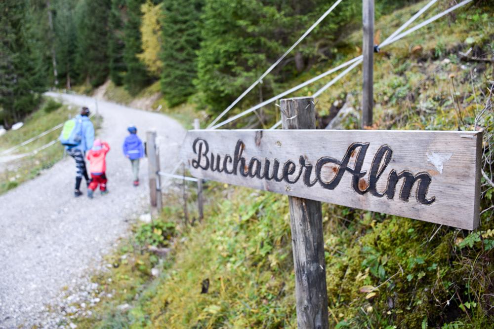 Herbstferien Achensee Tirol Österreich mit Kindern Wanderung Buchauer Alm