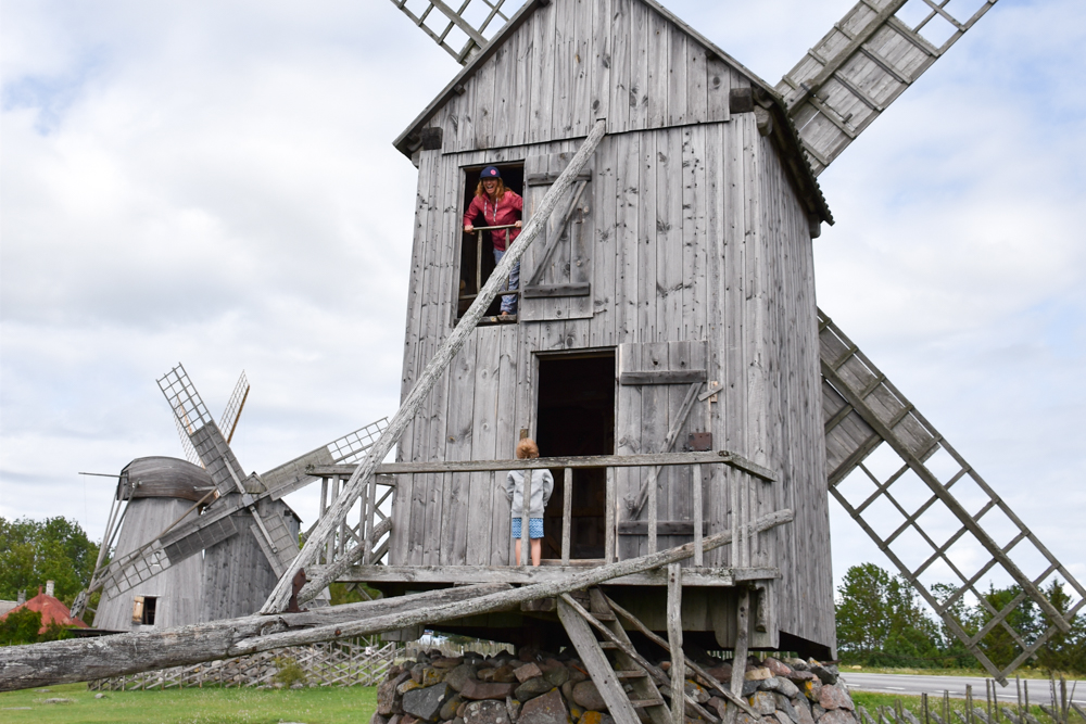 Insel Muhu Estland Angla Mühlen Saaremaa