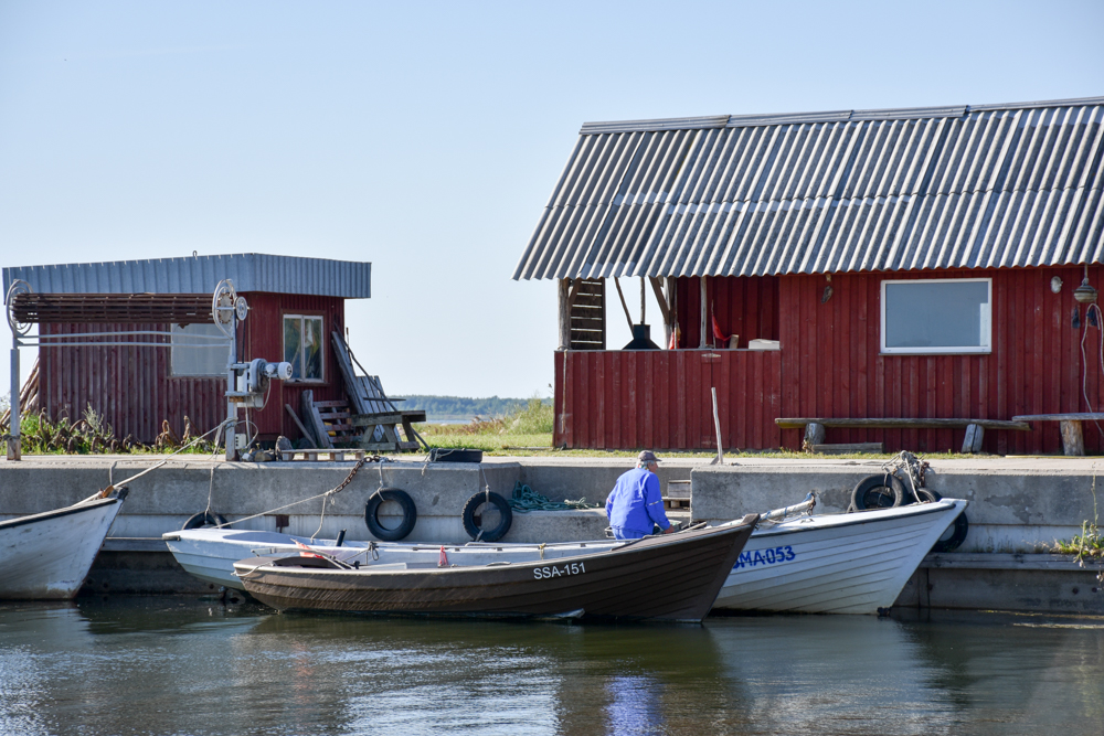 Insel Muhu Estland Hafen Koguva