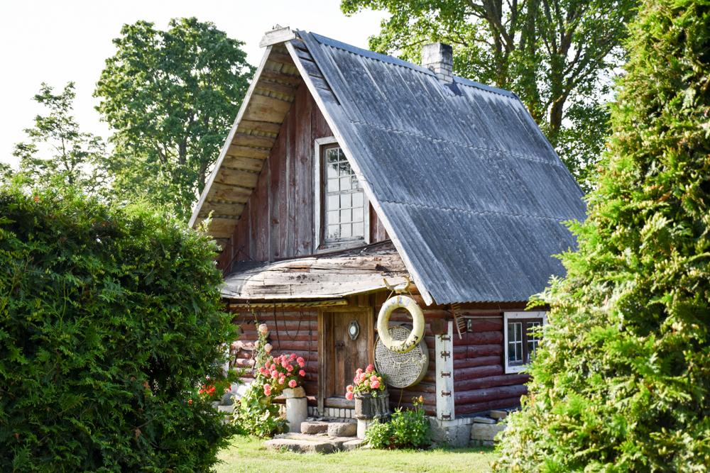 Insel Muhu Estland Haus auf Muhu