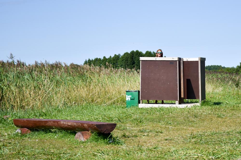 Insel Muhu Estland Umkleidekabine am Badestrand