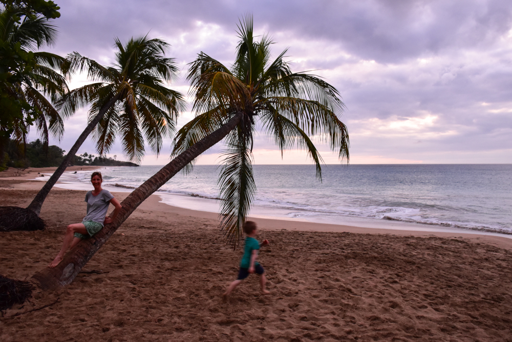 Strand-Guide Guadeloupe Sunset Plage La Perle