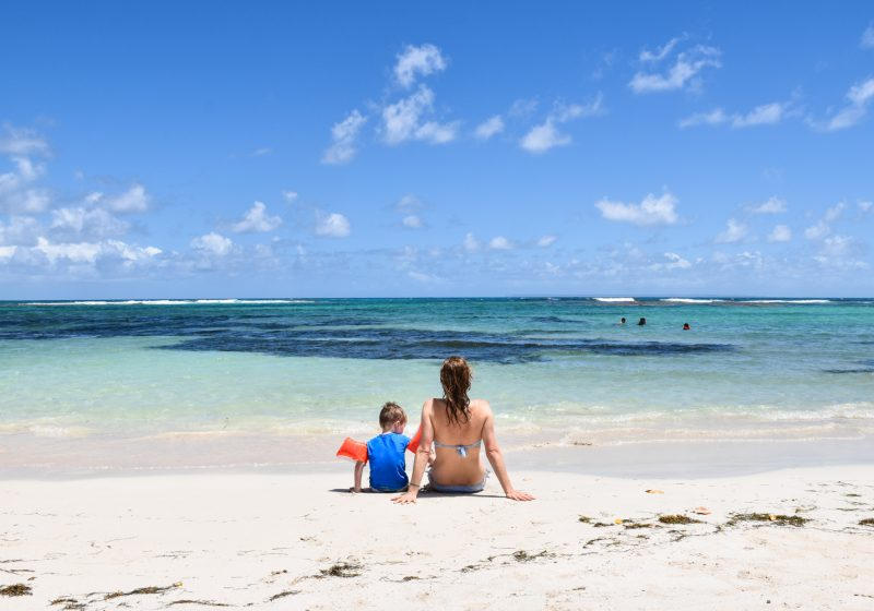Beste Strände Guadeloupe Travel Sisi am Plage des Raisins Clairs